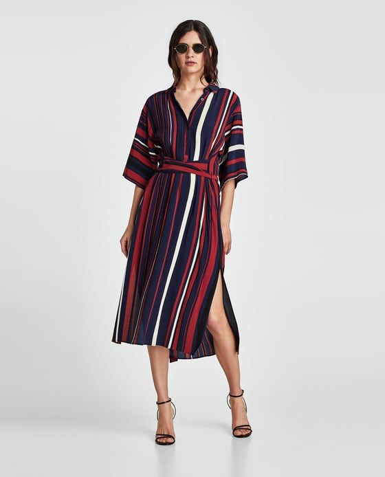 c321448b Image 1 of LONG STRIPED TUNIC from Zara | Print - spots and stripes ...