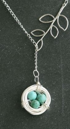 Nest necklace. So sweet!