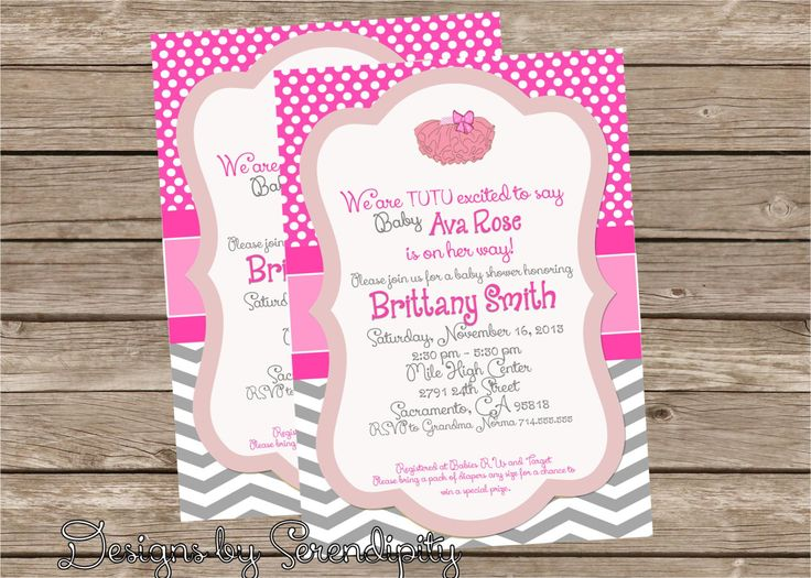 Baby Girl Tutu Invitation Baby Shower By SerendipityPlanning, $14.95