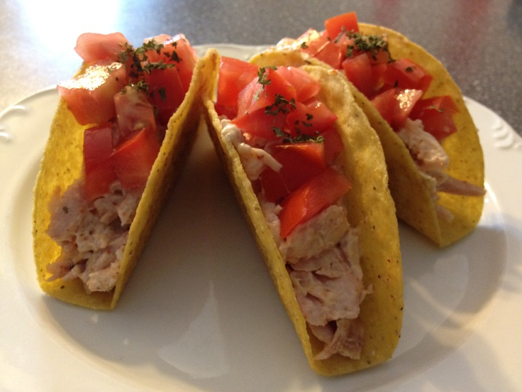 Leftover Rotisserie Chicken? - Yummy light chicken tacos!
