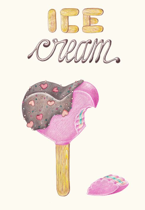 ICE CREAM by MARIVILLA, via Behance