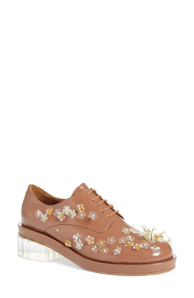 Free shipping and returns on Simone Rocha Embellished Lace-Up Oxford (Women) at Fashiondoxy.com. Pre-order this style from the Spring 2016 collection! Limited quantities. Ships as soon as available. You'll be charged only when your item ships