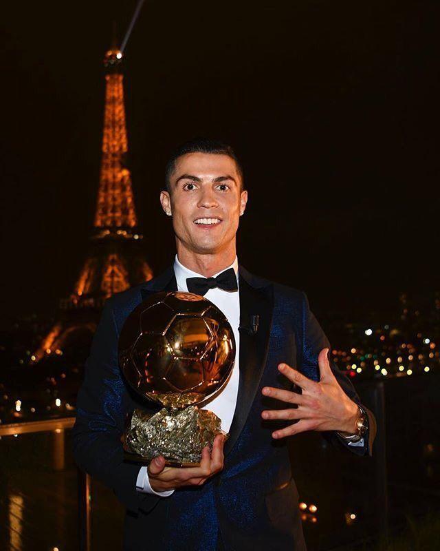 Cristiano Ronaldo Ballon Dor Balon De Oro 5 Golden Ball Balon De