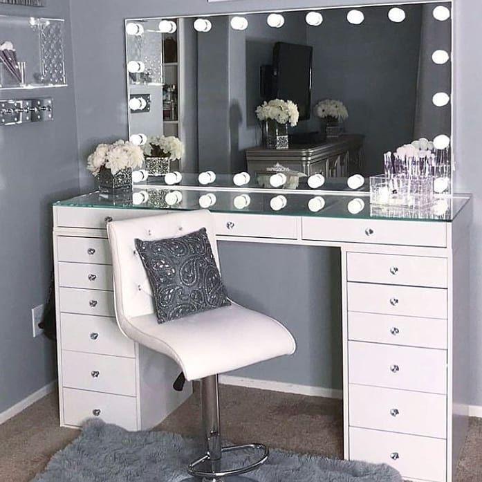 Penteadeira Camarim 40 Modelos Para Voce Room Decor Bedroom Rose Gold Pink Bedroom Design Room Decor