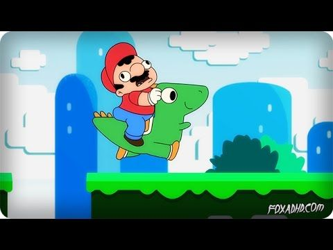 An Amusing Animation Featuring the 'Super Mario World' Video Game Theme Song With Added Lyrics
