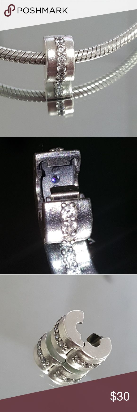Pandora Shining Path clip(1) Authentic Pandora Listing is for 1, I only have 1 Every Charm is in LIKE NEW condition Worn a few times for show Price firm Bundle up to save on shipping Bundle discounts available!!  ☆HIGH RATED SELLAR☆ ☆NO NEGATIVE REVIEWS☆ Pandora Jewelry Bracelets