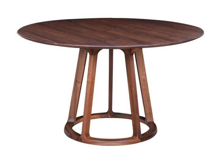 Moe's Home Collection Aldo Round Dining Table Walnut | Domino