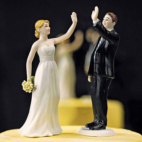 Tortenaufsatz Porzellan Brautpaar High Five