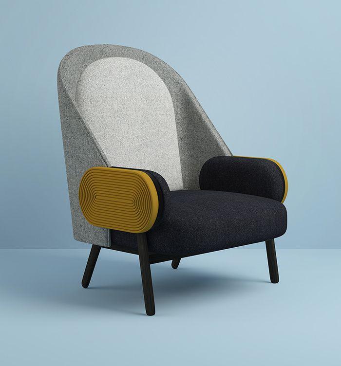 Fauteuil Moon design, Charles Kalpabian (Galerie BSL)