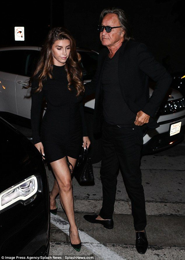 256f72cf1d Mohamed Hadid and fianceé Shiva Safai rock matching ensembles