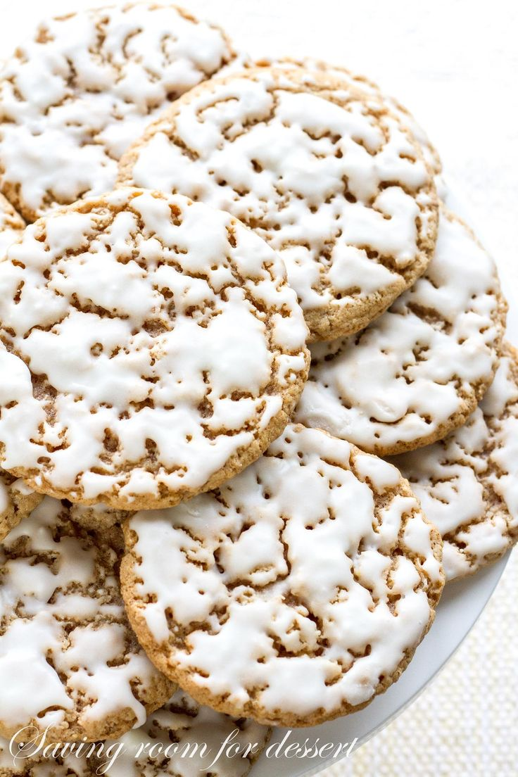 Old-Fashioned Iced Oatmeal Cookies ~ http://www.savingdessert.com/old-fashioned-iced-oatmeal-cookies/