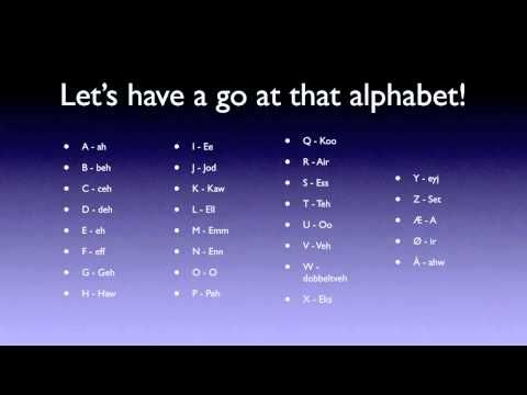 Learn Norwegian: Alphabet, numbers and how do you do! 3.10