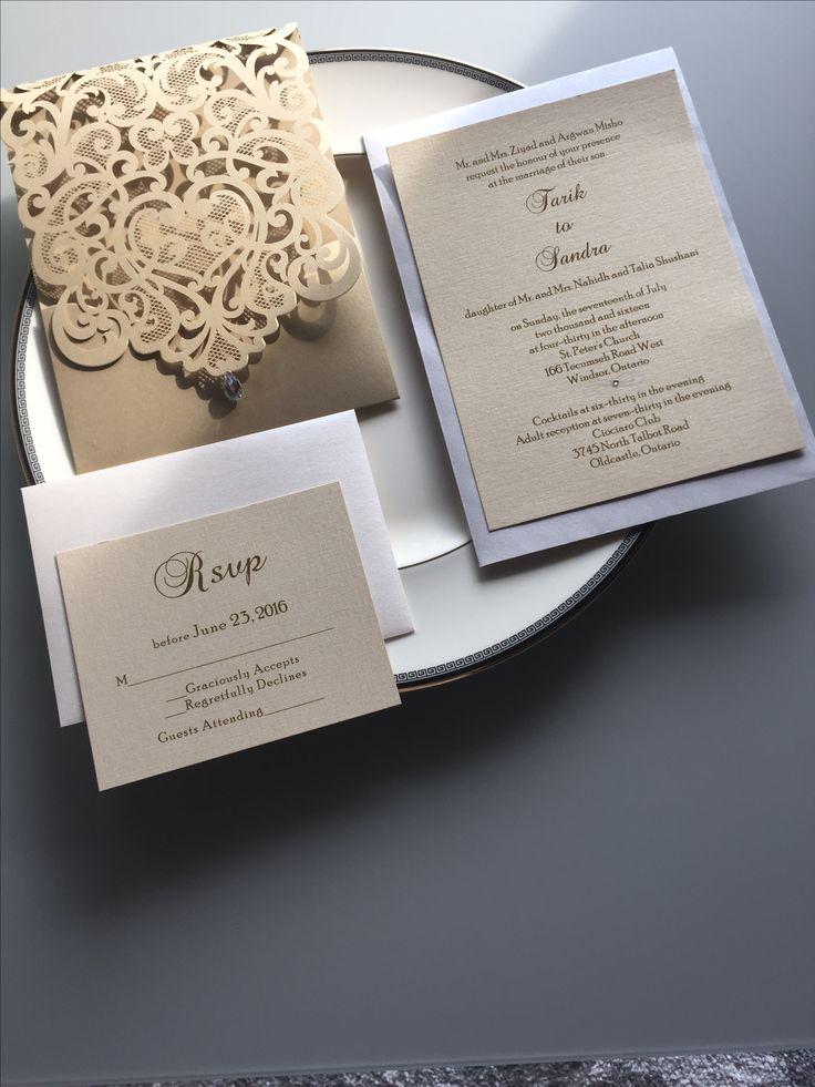 Romantic Laser Cut invitation personalized for you
