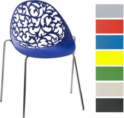 Design Retro Stapelstuhl FAITH, Materialmix aus Kunststoff und Metall in Chromoptik, bis zu 6 Farben wählbar Jetzt bestellen unter: https://moebel.ladendirekt.de/kueche-und-esszimmer/stuehle-und-hocker/esszimmerstuehle/?uid=d80ff8d3-b04e-54f9-90d8-5a489609a0e7&utm_source=pinterest&utm_medium=pin&utm_campaign=boards #kueche #esszimmerstuehle #esszimmer #eckbänke #hocker #stuehle
