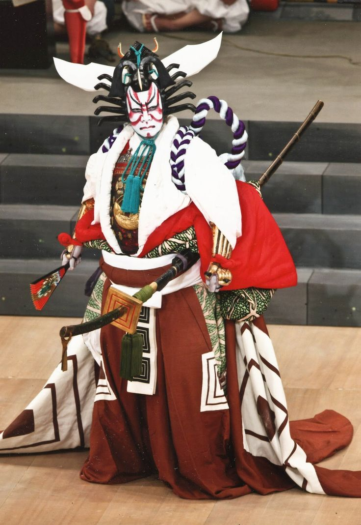 Kabuki (歌舞伎) - a traditional Japanese form of theater with roots tracing back to the Edo Period. It is recognized as one of Japan's three major classical theaters along with noh and bunraku, and has been named as a UNESCO Intangible Cultural Heritage.