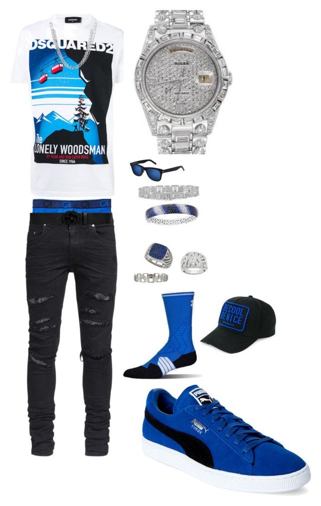 Untitled #74 by tikitress on Polyvore featuring Dsquared2, AMIRI, Gap, Under Armour, Puma, Yves Saint Laurent, Gucci, Marco Ta Moko, Effy Jewelry and Lord & Taylor