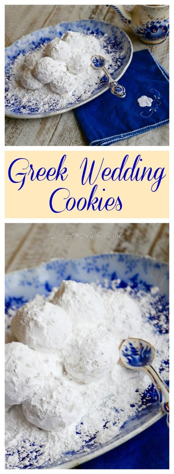 Greek Wedding Cookies - Kourabiethes / Kourabiedes #SundaySupper