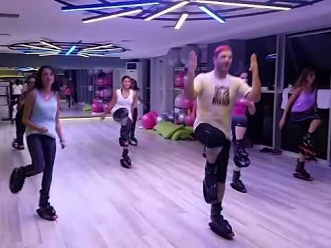 Kangoo jumps.. a little power a little dance                                                                                                                                                                                 More
