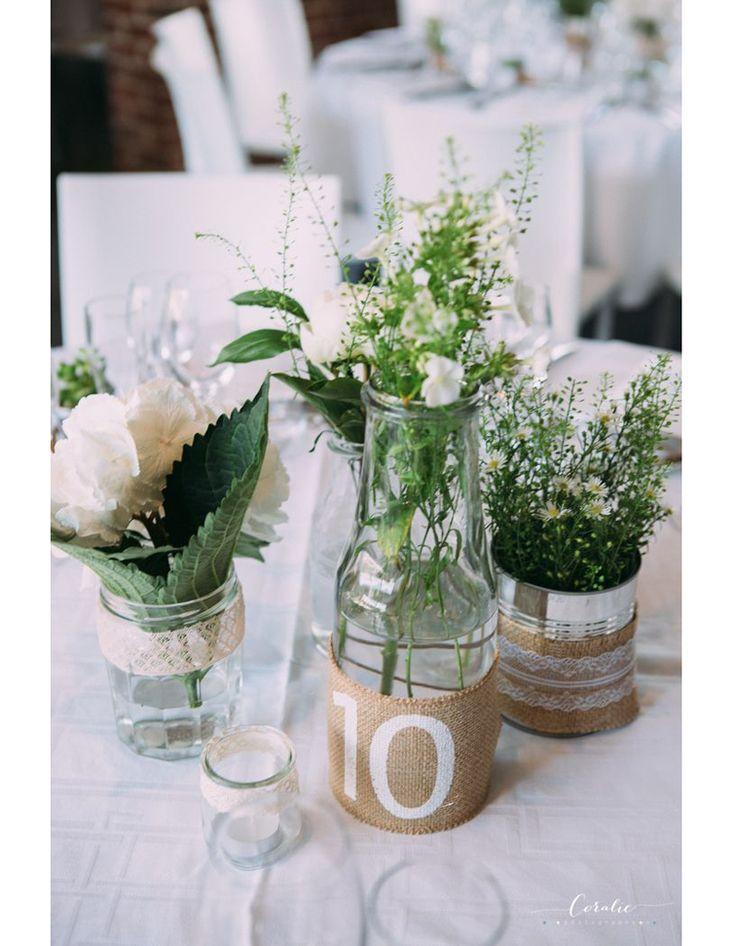 Centre de table vase