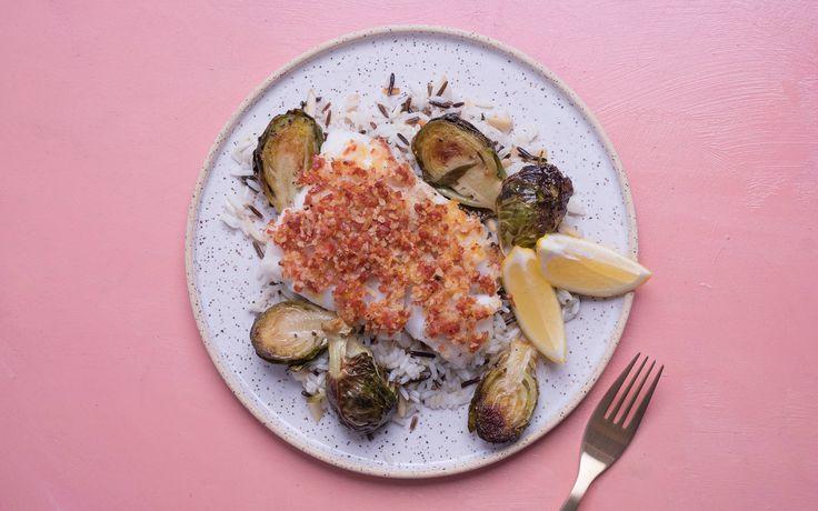 Lemon Zest and Parmesan Chorizo Crusted Cod