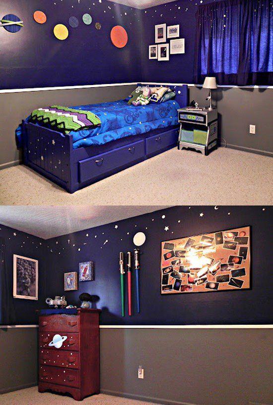 25 melhores ideias de quarto espacial no pinterest for Geek bedroom ideas