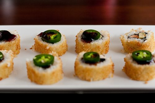 Panko Crusted Alaska Roll by foodiebride, via Flickr. For the day I try and make sushi.