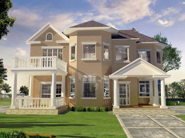 Exterior The Exterior Paint Schemes Design, um Ihr äußeres Haus zu verschönern: Faszinierte Center Exterior Paint Scheme Design-Stil mit Soft Beige Lumber W …