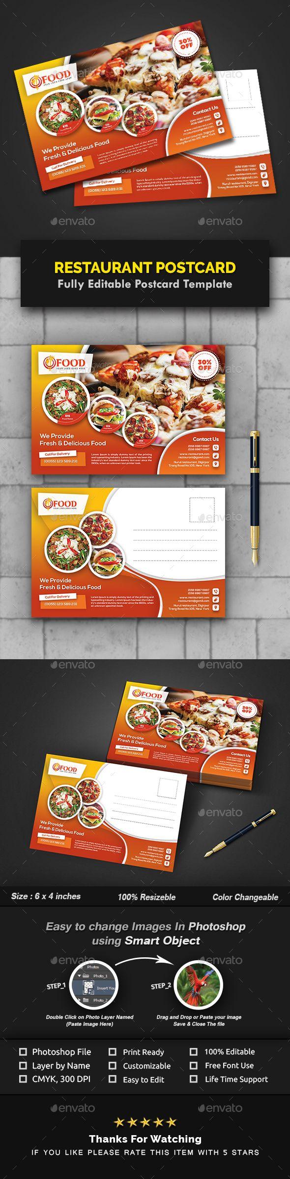 Restaurant Postcard Templates Postcard Template Templates Business Powerpoint Templates