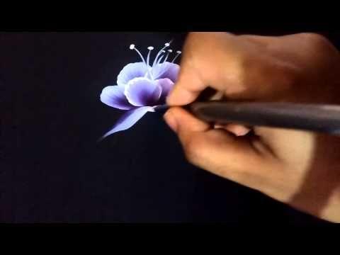 Some basics one stroke method using flat brush. - YouTube