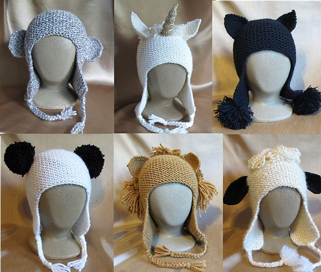 Ravelry: Animal Hats # 1306 pattern by Diane Soucy