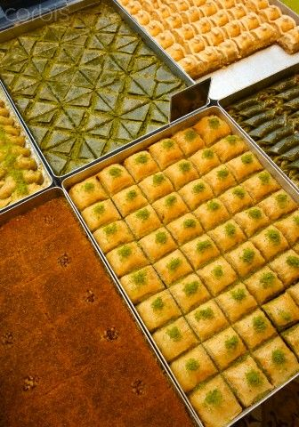 Baklava, Turkish sweets_ Istanbul ,Turkey