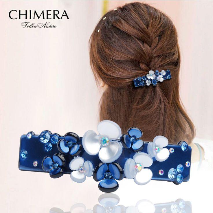 Luxury Cellulose Acetate Hairpin Hair Clips for Women Kanzashi Imitation Crystal Hair Clip Pin Hairclip Hair Barrette Hairgrip