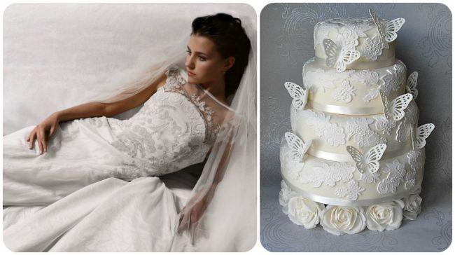 20 abiti da sposa 2014, abbinati ad altrettante torte nuziali: delizia per gli occhi e per il palato! Image: 6