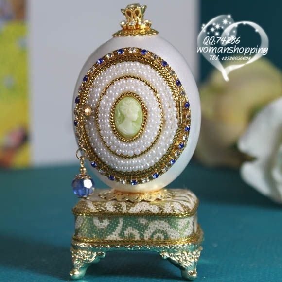 Cameo gold and pearls Faberge style Russian carved egg music box free shipping e02 on AtomicMall.com http://atomicmall.com/view.php?id=2287279_source=Twitter_medium=ProductToools