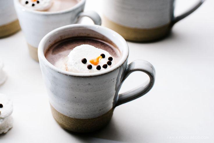 mint marshmallow snowmen - www.iamafoodblog.com