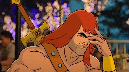 New trendy GIF/ Giphy. upset annoyed sigh facepalm son of zorn zorn. Let like/ repin/ follow @cutephonecases