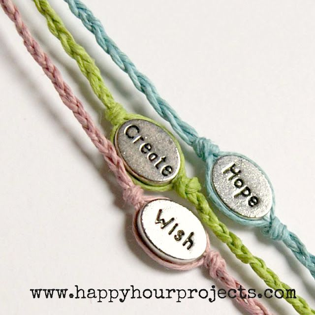 My girls would love to make these Word Bracelets