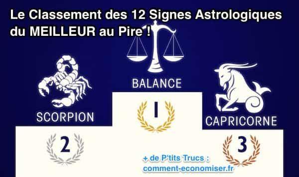 Découvrez le classement inédit des 12 signes astrologiques du meilleur au pire ! :-)  Découvrez l'astuce ici : http://www.comment-economiser.fr/classement-des-12-signes-astrologiques-du-meilleur-au-pire.html?utm_content=bufferf1df4&utm_medium=social&utm_source=pinterest.com&utm_campaign=buffer