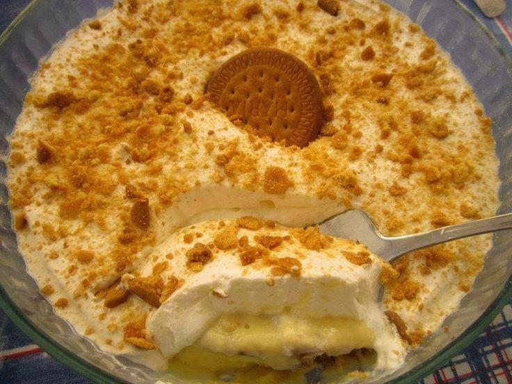 INGREDIENTES 1 pacote de bolachas tipo Maria 1 lata de leite condensado 397 gramas 250 ml de leite 6 gemas 100 ml de café 2 Pacotes de na...