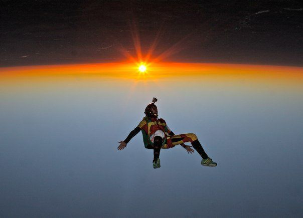 Skydive At Sunset