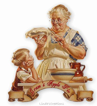 Housewifery in 1800′s Grandma and apple pie