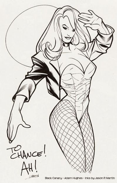 Black Canary by Adam Hughes on deviantART Inks by Jason P. Martin