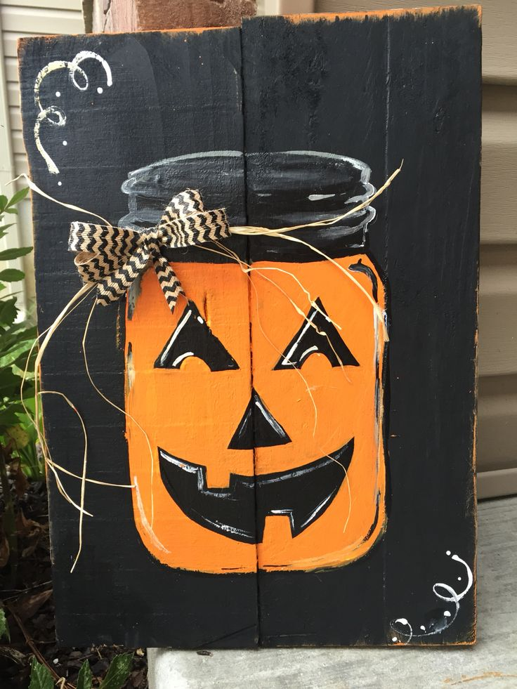 Fall pallet sign hand painted
