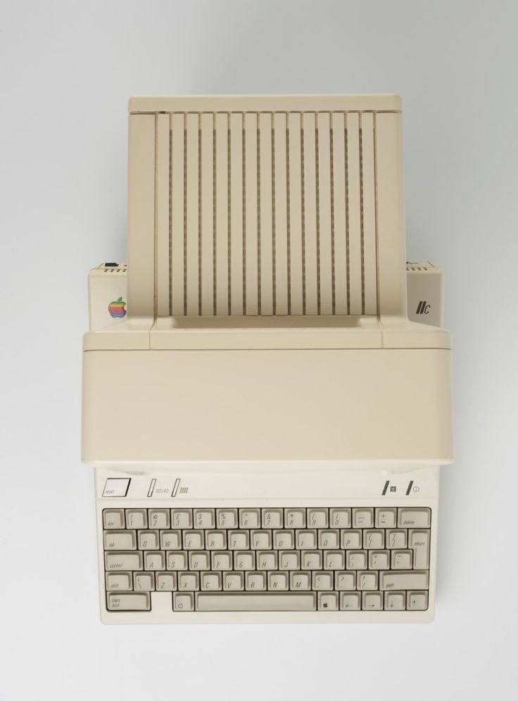 Apple II c computer from above