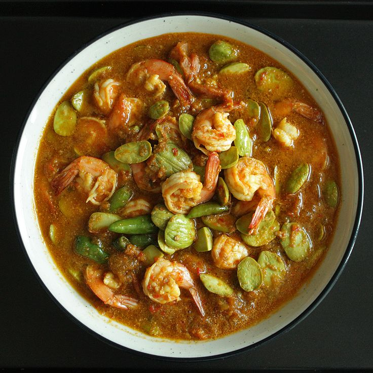 Sambal udang petai - Shrimp and stink bean in chili sauce