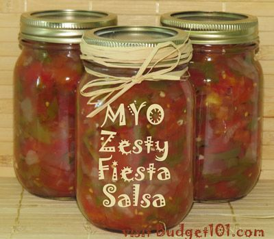 This Zesty Fiesta Salsa recipe is my absolute favorite. You can alter the level of spiciness by altering the amount of jalapeño peppers or by tossing in some finely diced habanero peppers, if you're daring enough! This easy recipe is great for beginners that have no idea how to start canning.