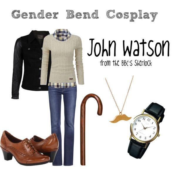 """""""Gender Bend John Watson"""" by mollyanne-bryan on Polyvore #Sherlock"""