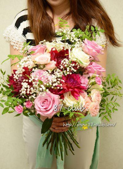 贈呈用花束 「ダリア×バラの華やかスタイル」