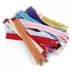 50pcs / lot fermetures à glissière en nylon -  17 cm  couture,mercerie,broderie,reparation jean ,customisation