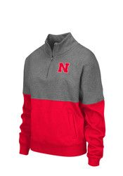 Colosseum Nebraska Cornhuskers Womens Spirit Grey 1/4 Zip Pullover